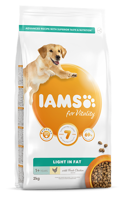 IAMS per la Vitalità per cani Light in Fat